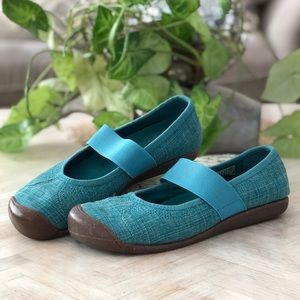 Keen Teal Canvas Slip On Mary Jane 7